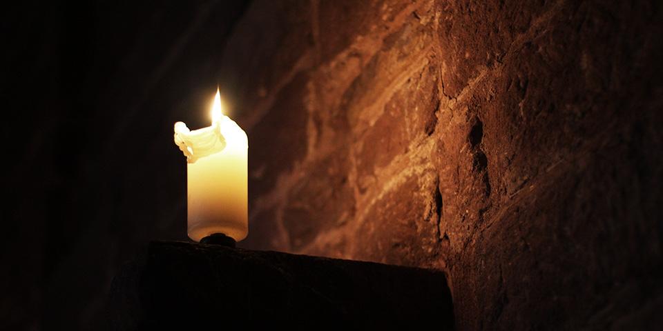 Kerze im Kloster Hirsau